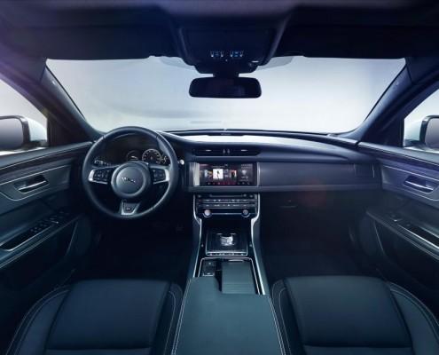 jaguar, xf, interior, pictures, revealed, event, london, 2015, automotive, news